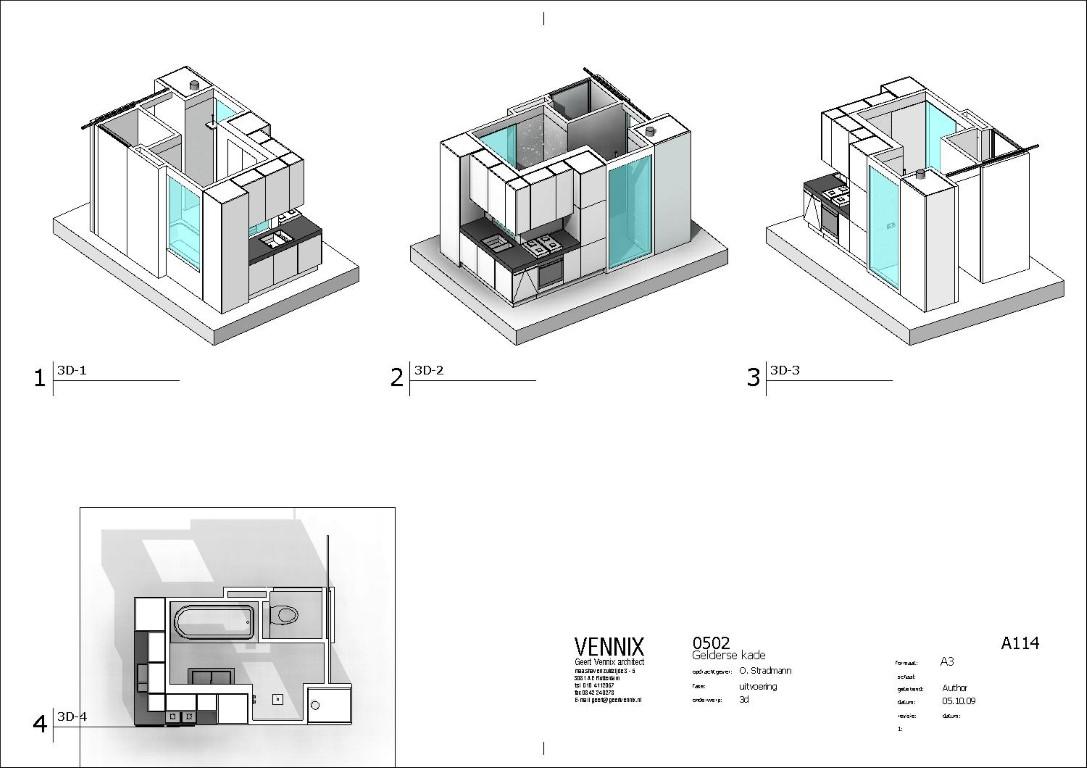 Appartement Amsterdam Geert Vennix architetecte